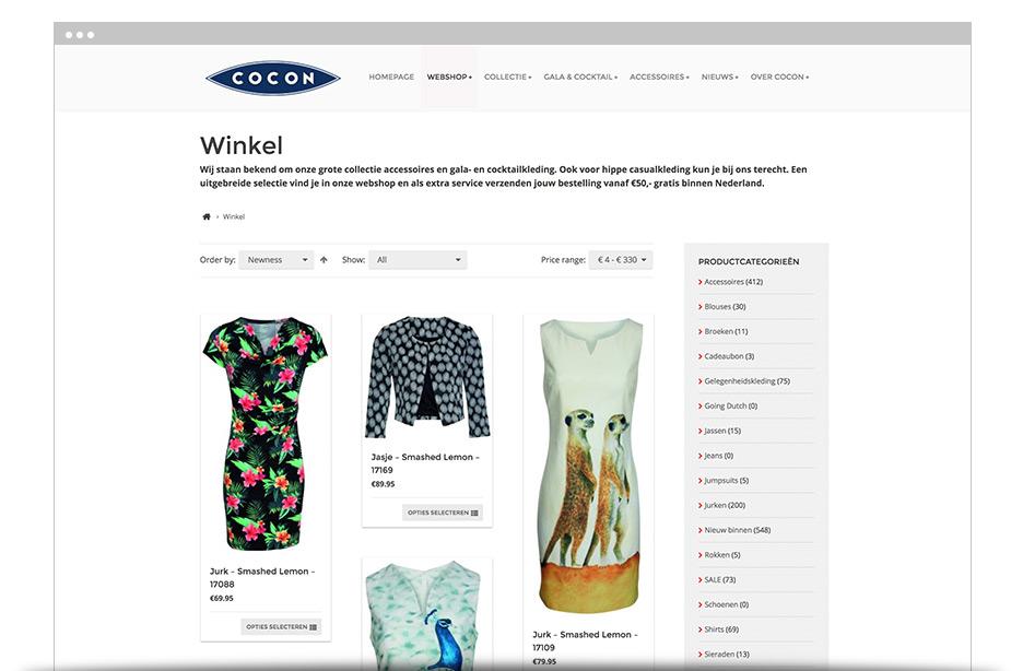 Cocon Utrecht webshop