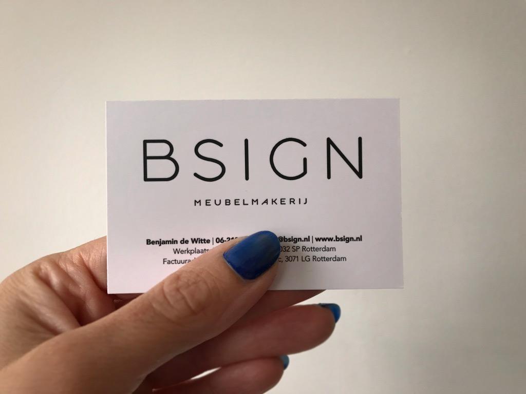 Visitekaartje Bsign