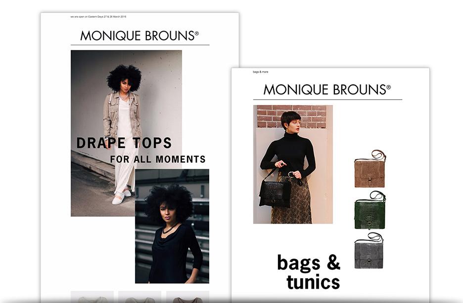 Monique Brouns nieuwsbrief webshop