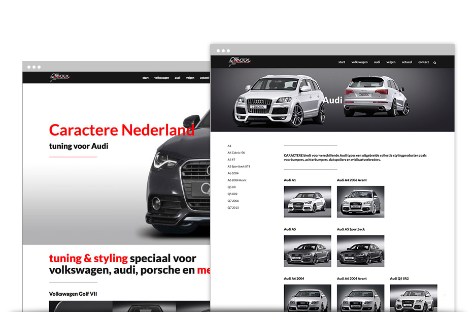 caractere nederland website
