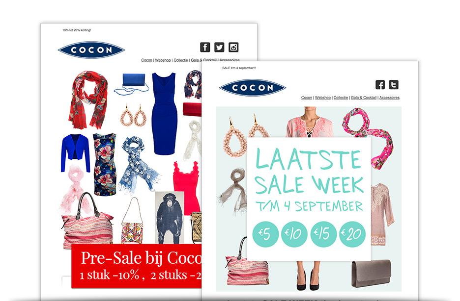 Cocon Utrecht email marketing webshop nieuwsbrief