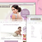 Ontwerp van website Honeymoon shop